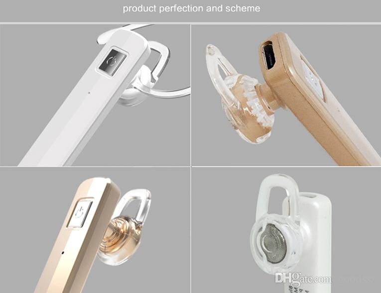 Slim Wireless Bluetooth Headset V4.1 Stereo Earphone Business Ear-hook with MIC Support Music Take Photos Connect 2 Cell Phones Good Quality