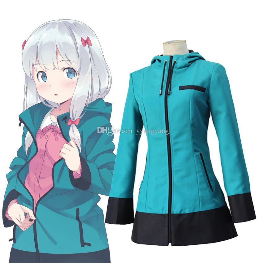 Anime Eromanga Sensei Izumi Sagiri Uniform Hooded Coat Cosplay Costume Blue Hoodies Casual Outerwear Zipper Jacket Outfit Costumes For Sale From