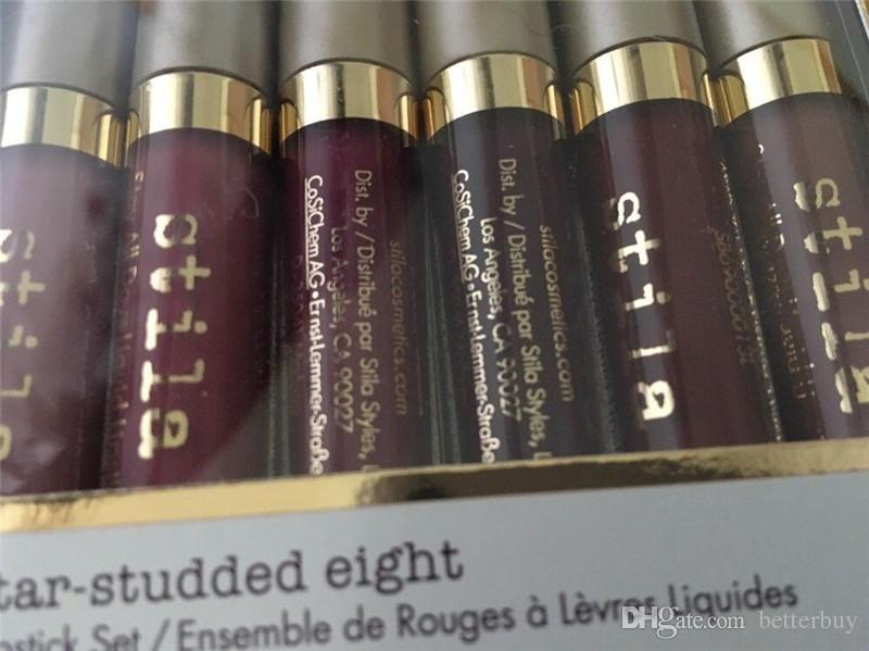 High Quality Star-studded Eight Stay All Days Liquid Lipstick set / box Long Lasting Creamy Shimmer Liquid Lipstick Lip Gloss New Hot