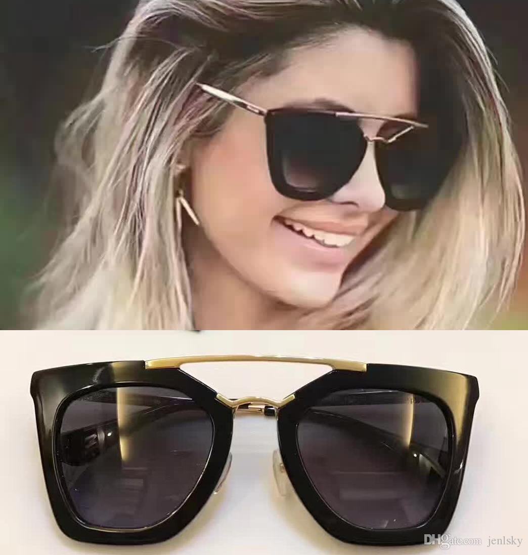 967cc59f97bc 2017 Designer Women Sunglasses SPR09QS Cinema In Black Grey Gradient Lenes  Sunglass Brand New With Box Sunglass Cheap Sunglasses From Jenlsky