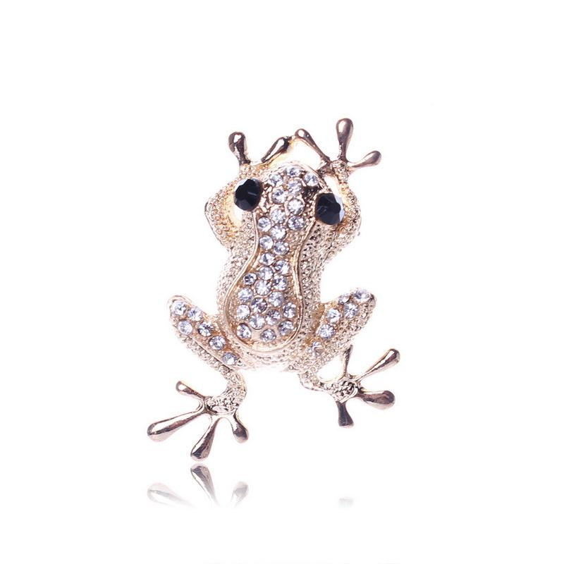 531332b0230 Unique Cute Gold Color Frog Shape Carve Full Shining Rhinestone Brooch Women  Gifts Crystal Jewelry Brooch Pin Brooches for Women Online with $1.98/Piece  on ...