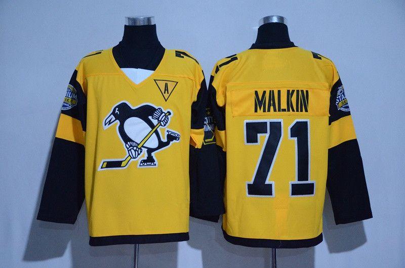 Penguins de la série Stadium de Jersey de Pittsburgh Hockey Hommes 81 Phil Kessel 87 Sidney Crosby 71 Evgeni Malkin 30 Matt Murray 58 Kris Letang