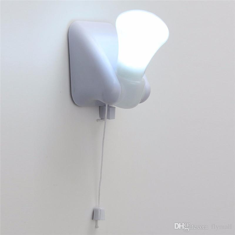 2018 Wire Led Bulb Wall Light Lamp Portable Cabinet Lamp Night Light  Battery Self Adhesive Wall Mount Energy Saving Wall Lighting From Flymall,  ...