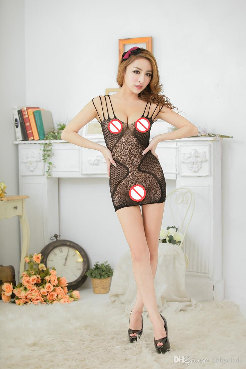 Brand New Wholesale lingerie Womens Sexy Bodystocking Dragon Pattern Crotchless Fishnet Bodystocking Free Size One Piece Bodysuit