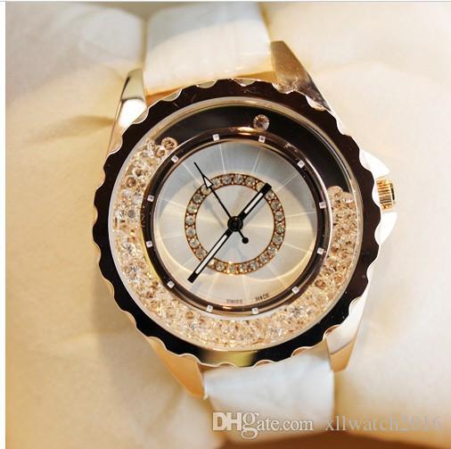 nuovo designer in pelle cinturino donne strass orologi da donna vestito da donna al quarzo diamante orologio da polso