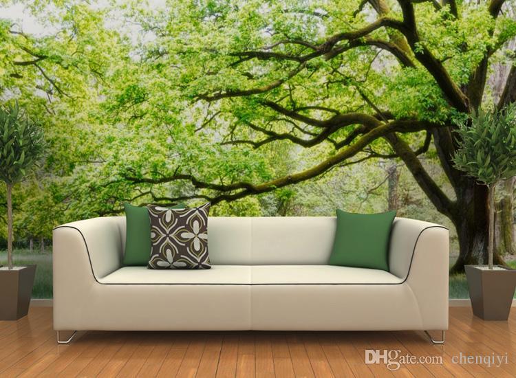 Modern fashion office living room bedroom tree art customized mural