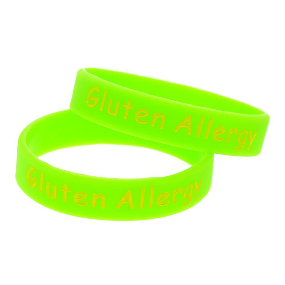 Силиконовый браслет для детей с глютеновой аллергией Носите этот браслет как напоминание в повседневной жизни