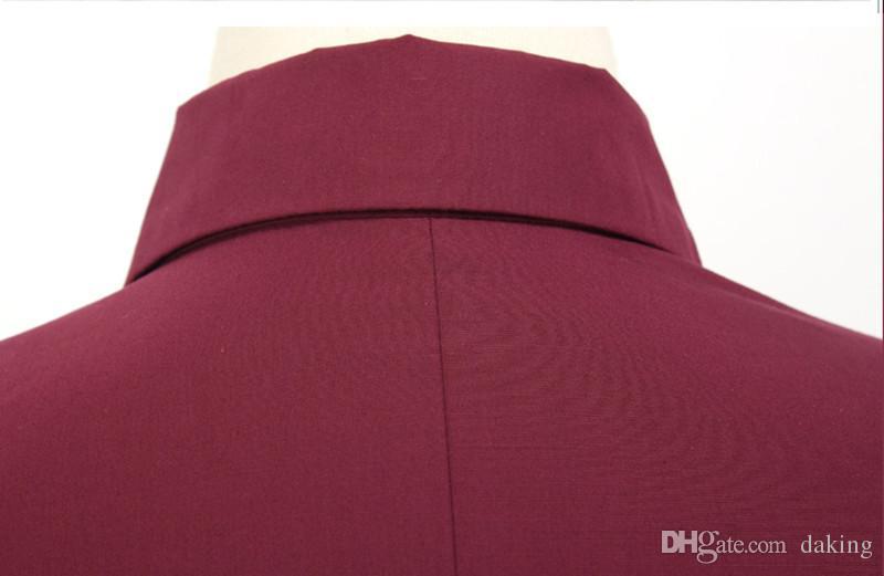 Europa Rusia otoño del resorte de las mujeres del desgaste de la carrera Oficina blusa remata la camisa de manga larga rojo blanco dama de Corea del algodón delgado Blend, Ropa Formal