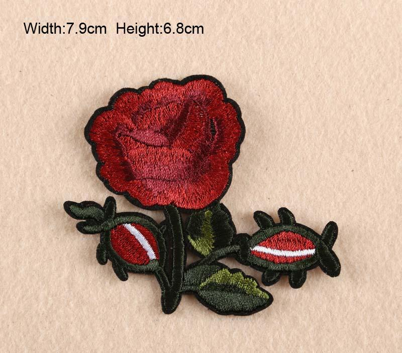 11 TASARıMLAR Çiçek Gül Nakış Yamalar Giyim Macunlar Çiçekler Etiketler Küçük Gül Cüzdan Çanta Yamalar ücretsiz kargo