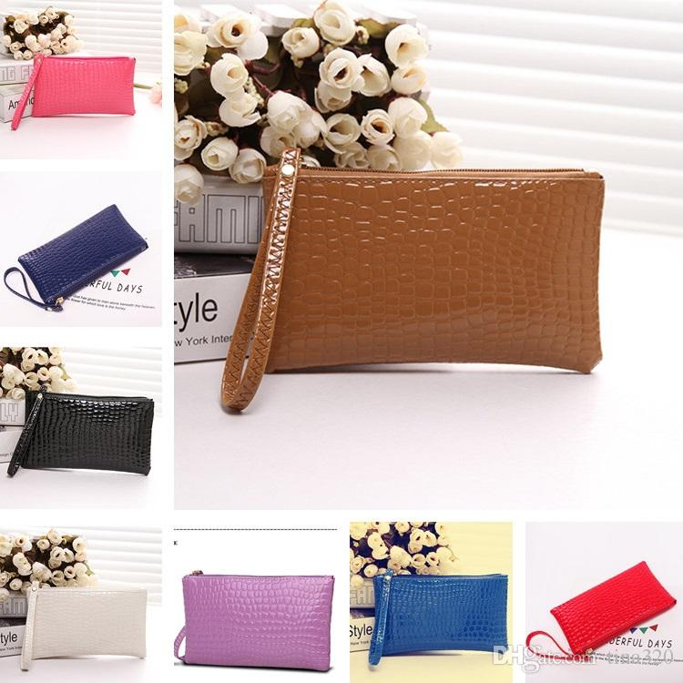 New Women bag small black evening Envelope purses shiny leather for girl lady hand bag DC520