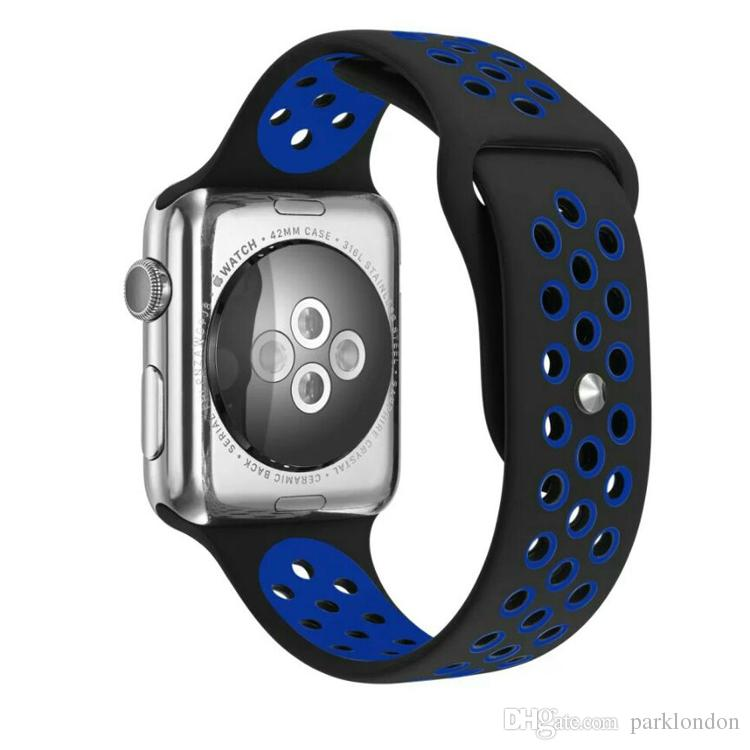 Sport Double Colors WatchBand Available WatchBand For Apple Watch Strap Split Silicone Wrist Band Strap For apple watch