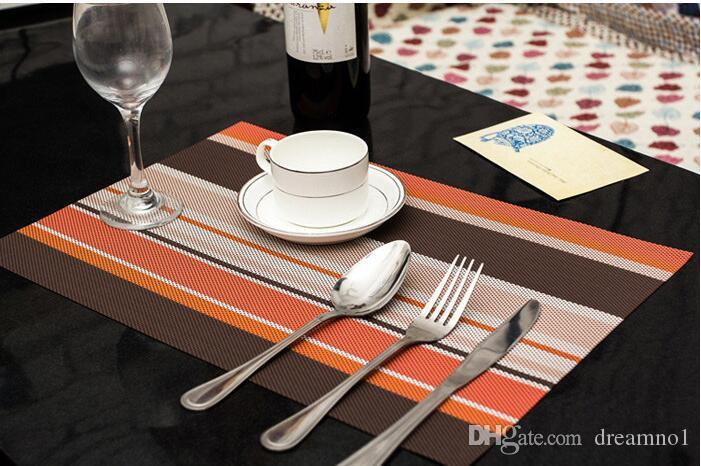 Placemats PVC Dining Room Placemats for Table Heat Insulation ...