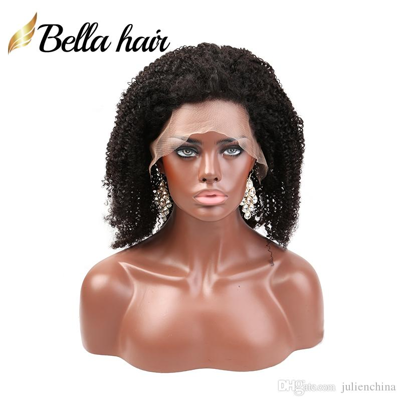 BASE DE SEDA SUPERIOR FULL LACE WIG KINKY CURLY CABELO HUMANO BELLA 100% UNCORRIDA AFRO AFRICAN KINKY CURLY HAIR LACES
