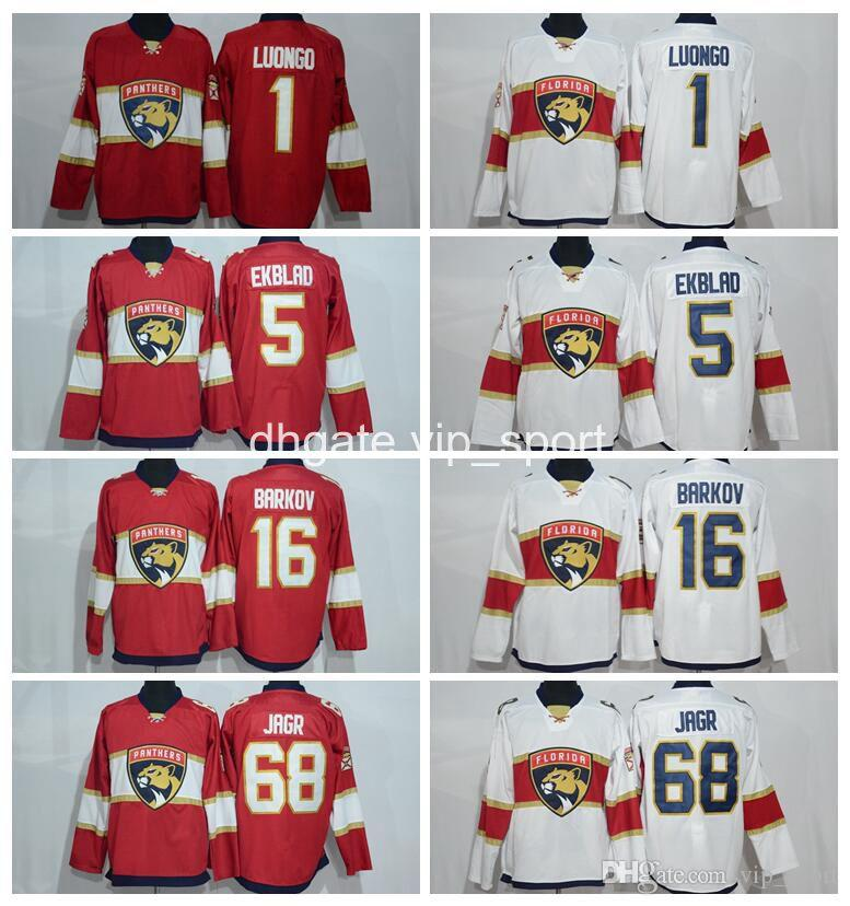 Wholesale 68 Jaromir Jagr Jersey Men Florida Panthers Ice Hockey Jerseys  Cheap Red 1 Roberto Luongo 16 Aleksander Barkov 5 Aaron Ekblad Jaromir Jagr  Jersey ... 923023a11
