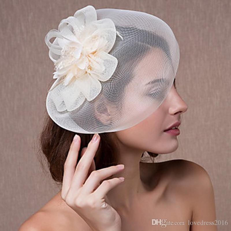 9842829286e6a New Arrival Bridal Banquet Wedding Party Fascinator Hats 2018 Hot Sale  Women Tulle Headpiece Bridal Accessories Cheapest Hat For Bride Hat For  Weddings From ...