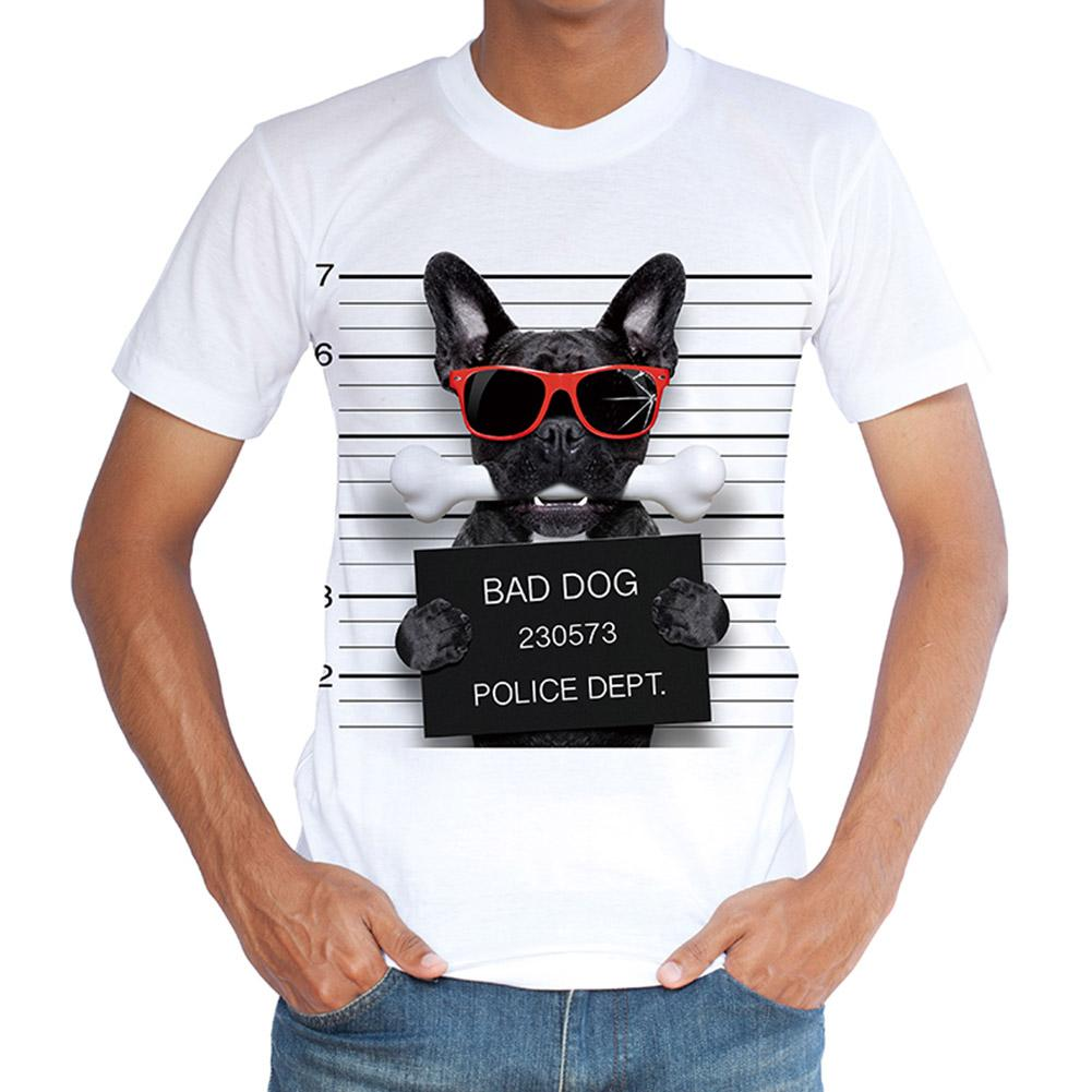 New Arrivals Fashion 3d Bad Dog Design Big Size Casual Men S T