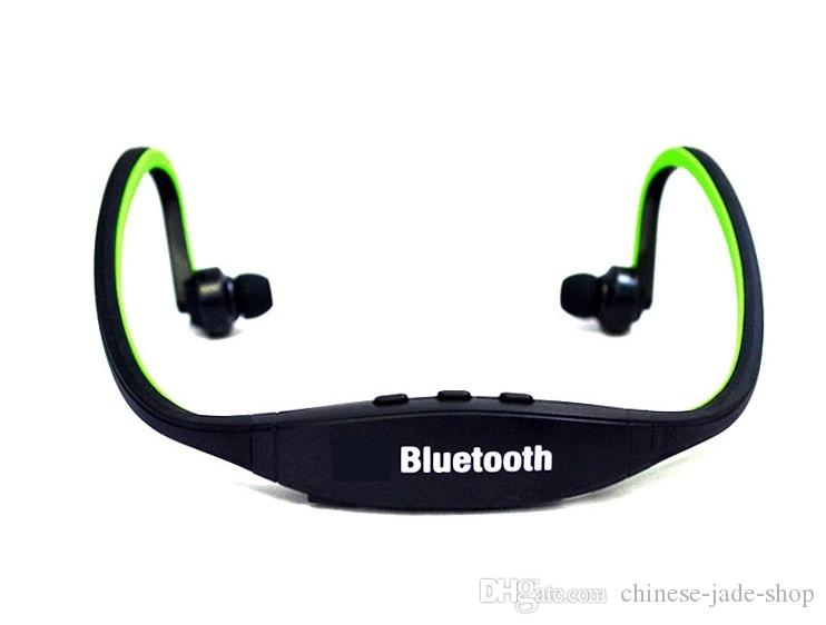 Auricular estéreo del auricular inalámbrico S9 Deportes Bluetooth banda para el cuello Peal / PAQUETE de PVC