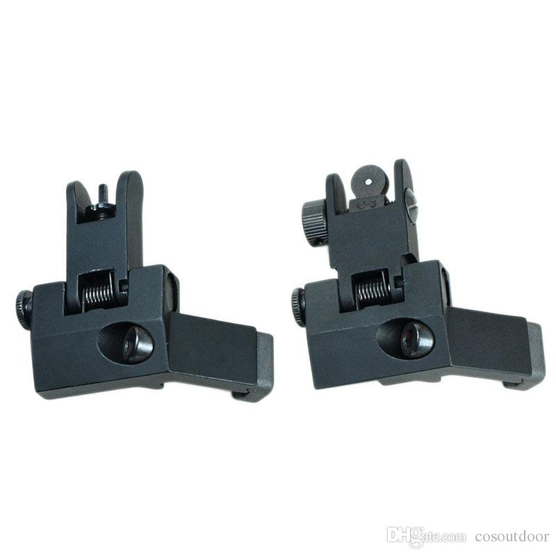Brand New Aluminum Alloy AR15 Rifle Front Rear 45 Degree Offset Rapid Transition BUIS Backup Iron Sight Set