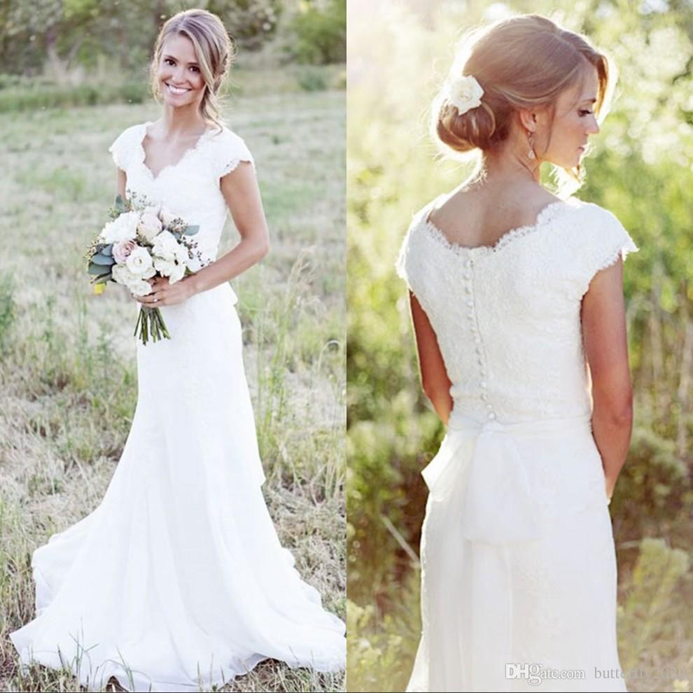 Großzügig Vintage Land Brautkleider Galerie - Hochzeit Kleid Stile ...