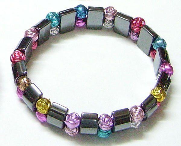 10 pz / lotto nero magnetico bracciali sani 8 pollici il regalo di gioielli artigianali fai da te spedizione gratuita MG1