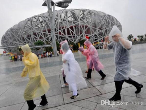 One-time Raincoat Fashion Hot Disposable PE Raincoats Poncho Rainwear Travel Rain Coat Rain Wear Travel Rain Coat DDA1249-A
