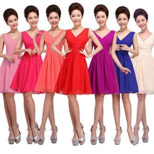 D'honneur D'honneur Champêtre Cou Champagne Court Robe V Style Genou Demoiselles Femmes Vestimentaire Acheter Rouge Les Rouge Sexy Robes Demoiselles Plus x0vXqxwC