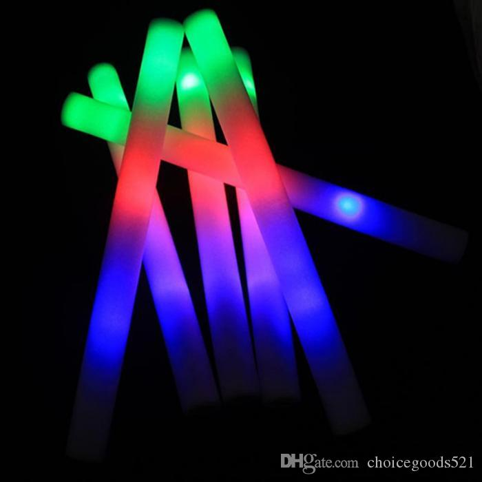 multi color material foam changing led glow stick christmas electronic concert multicolor sponge stick flash stick 100 pack of glow sticks teal glow sticks