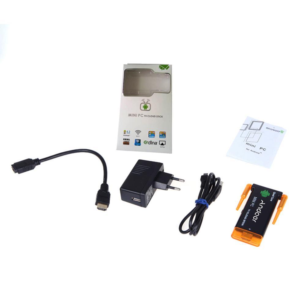 1080 P android tv sopa dongle CX919 Android 4.2 Mini PC Kutusu TV Sopa Dört Çekirdekli 2G / 8 GB Bluetooth Çift Harici WiFi Anten
