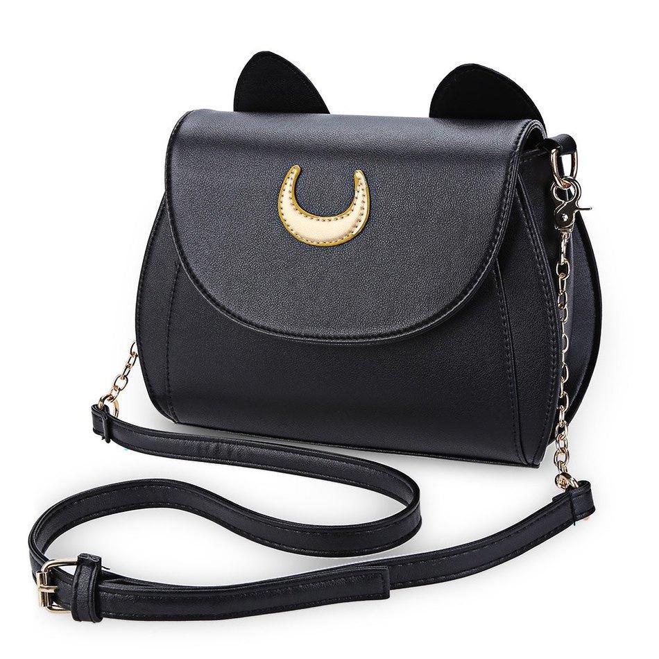 Wholesale Kawaii Summer Sailor Moon Ladies Handbag Black