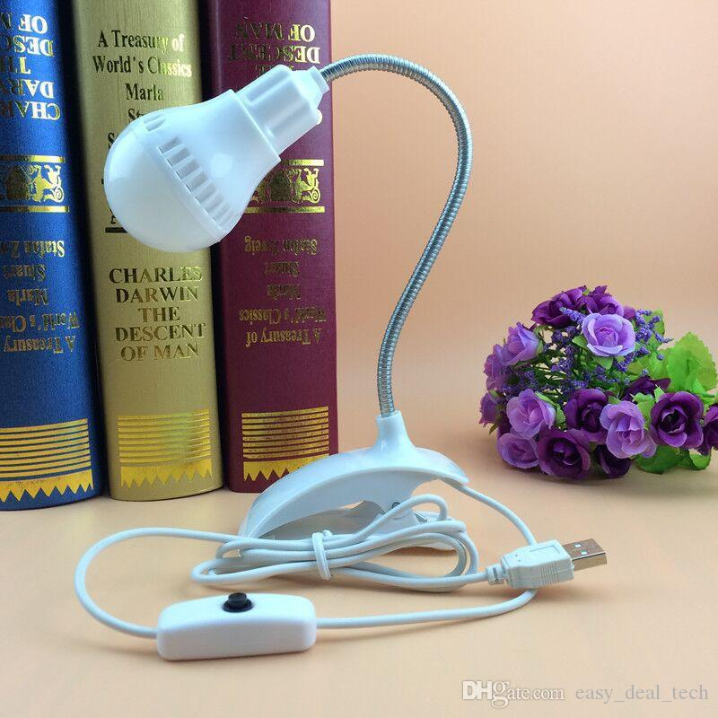 Creative Led Desk Lamp Flexible USB Clipper Clip Eye Protection Reading Light Bedside Table Lamp Bedroom Home Living Room Decor ZJ0517