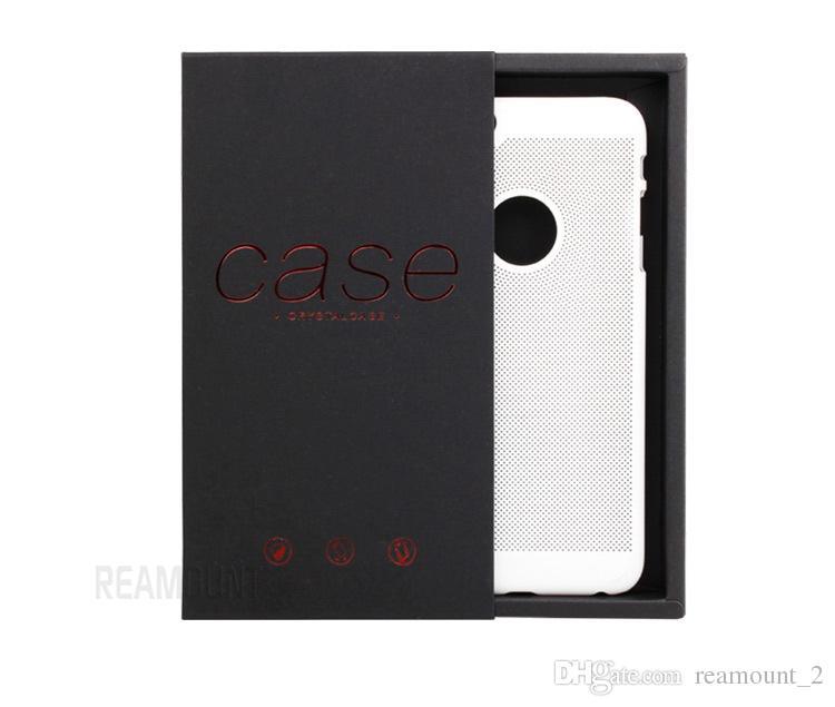 Оптовая новый стиль для iPhone 7 мобильный телефон случае пакет для Samsung S7 телефон Shell Box розничная черный картон упаковка Box