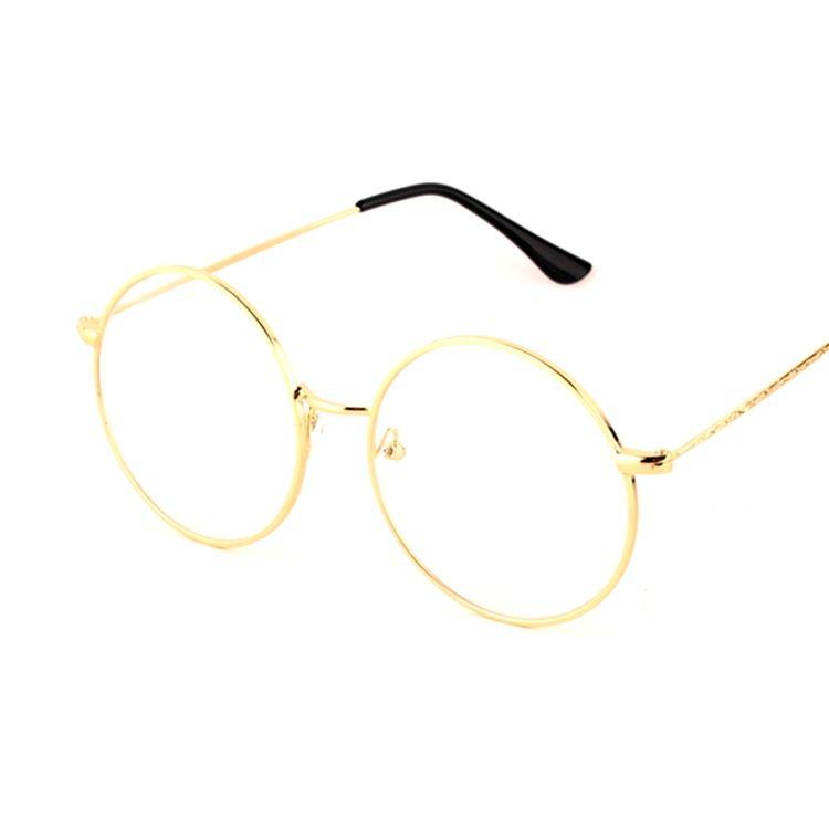Compre Metal Full Rim Pequeño Aviador Pilot Eyeglass Marcos Vidrios ...