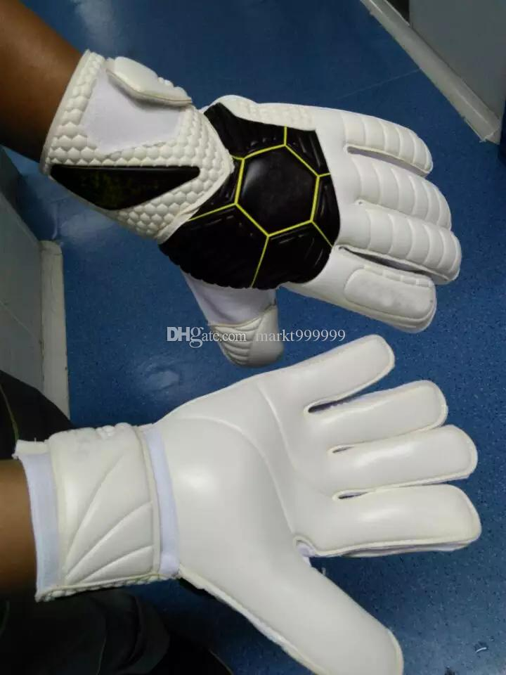 Genuine Brands Soccer Goalkeeper Breathable training High quality gloves with finger guard Wear non Slip Professional Super Latex