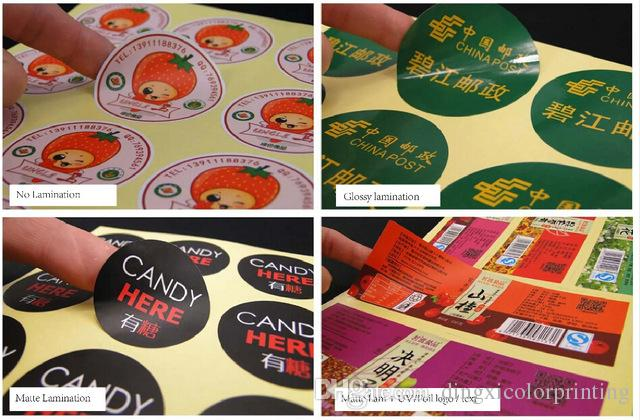 Customized Custom Logo/Design Glossy or Matte Paper PVC Vinyl Transparent Clear Plastic Adhesive Label Sticker Printing