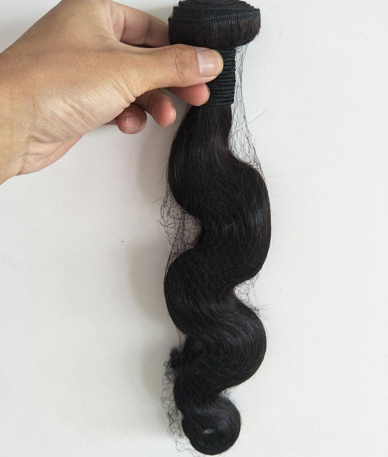 Grade 7A--100% Human Hair Virgin Weaving Peruvian Body wave hair bundle 100g/Piece&300gwith Natural Color Free DHL