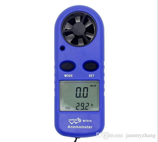 디지털 휴대용 바람 속도 게이지 미터 포켓 스마트 풍속계 공기 풍속 규모 측정