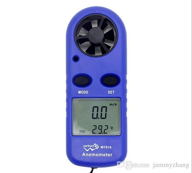 Digital Hand-held Wind Speed Gauge Meter Pocket Smart Anemometer Air Wind Speed Scale Measure