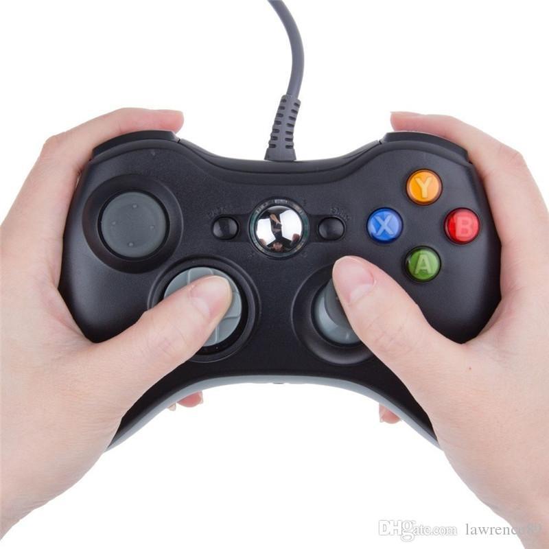 Gamepad USB verdrahteter Spiel-Steuerpult Gamepad Joypad Joystick für Xbox 360 dünner Zusatz-PC DHL geben Verschiffen frei