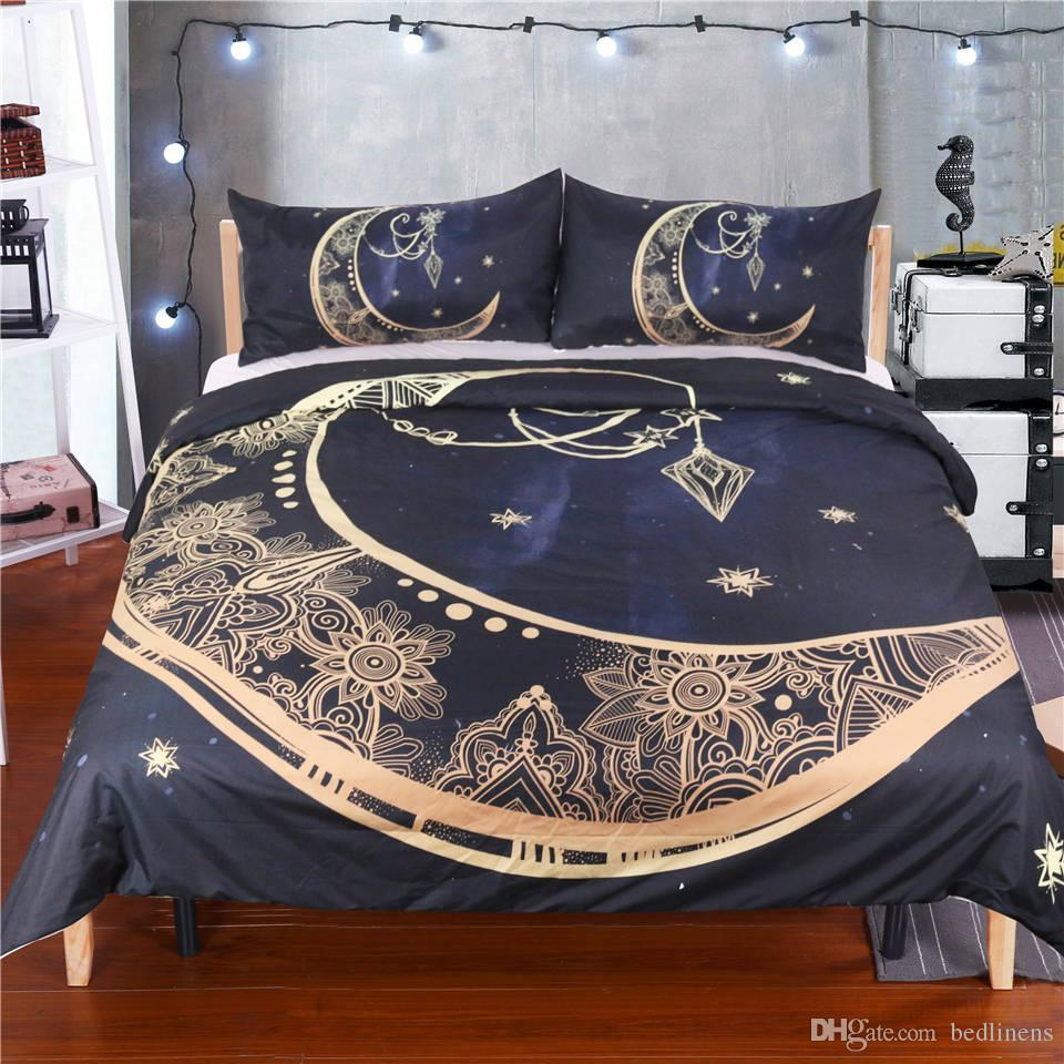 2017 new arrivings floral moon bedding set duvet cover pillow shams rh dhgate com