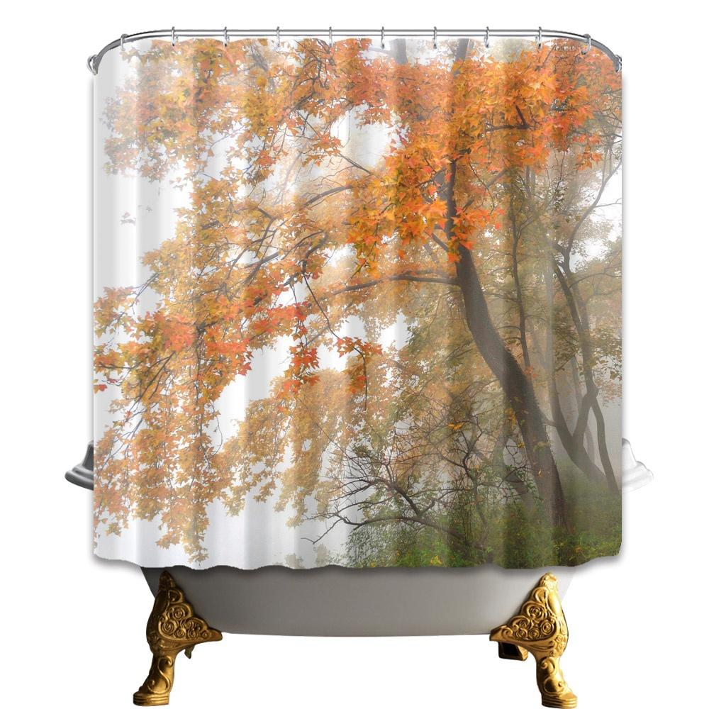 2019 tree shower curtain bathroom decor plant scenery waterproof rh dhgate com