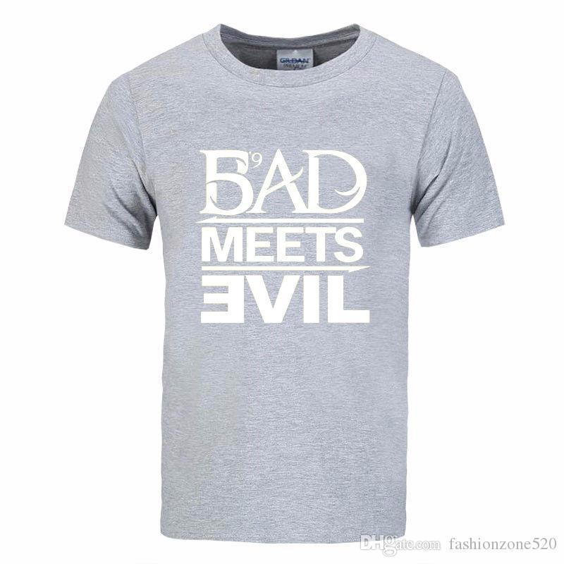 Eminem Bad Meets Evil rap rock Men's T-Shirt T Shirt For Men 2019 Summer New Short Sleeve Cotton Casual Top Tee Camisetas Masculina