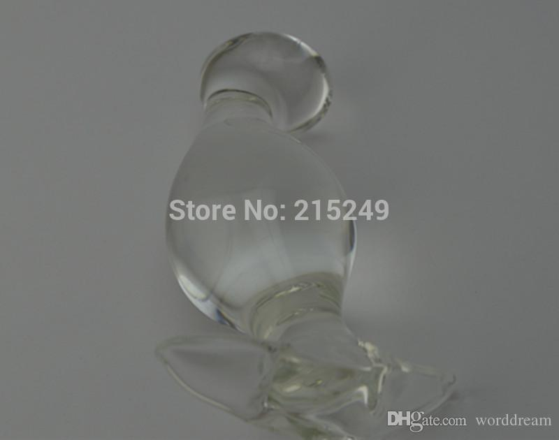13*4.5 CM Big Glass Penis Dildos Anal Beads Butt Plug Stimulator In Adult Games , Fetish Sex Toys For Women And Men Gay