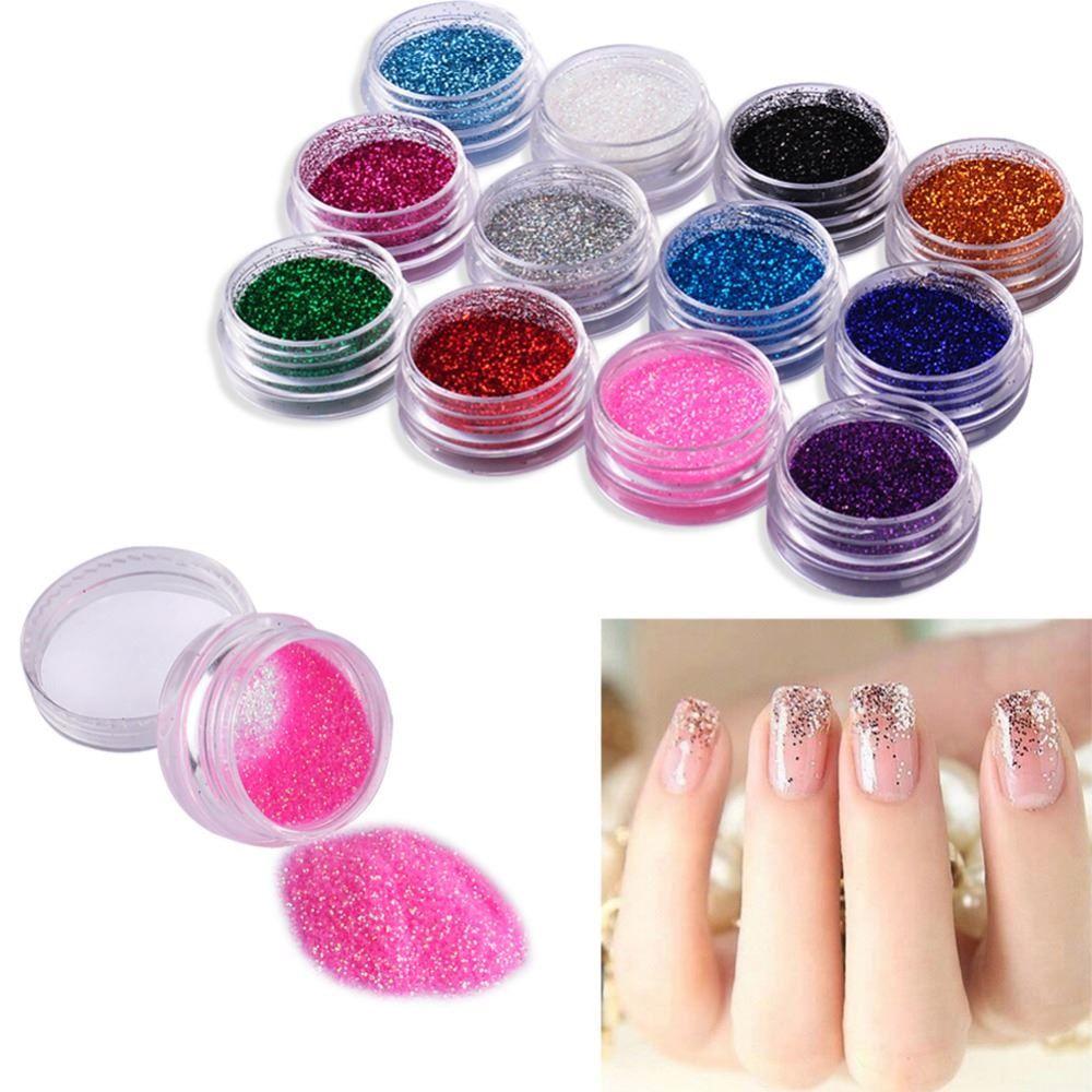 Nail Glitter Powder Decor Nail Art Powder Sparkly Dust Acrylic Uv ...