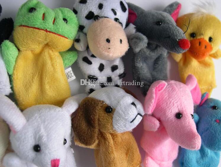 10styles милые животные палец куклы игрушки короткая нить детские руки кукольные игрушки Дети Детские раннего образования палец игрушка рассказывание реквизит