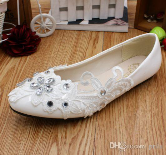 Silver Flats For Wedding.Flats Wedding Shoes White Lace With Silver Rhinestones Bridal Brides Party Dancing Shoes Dg185 Custom Different Heel Bridesmaids Shoes