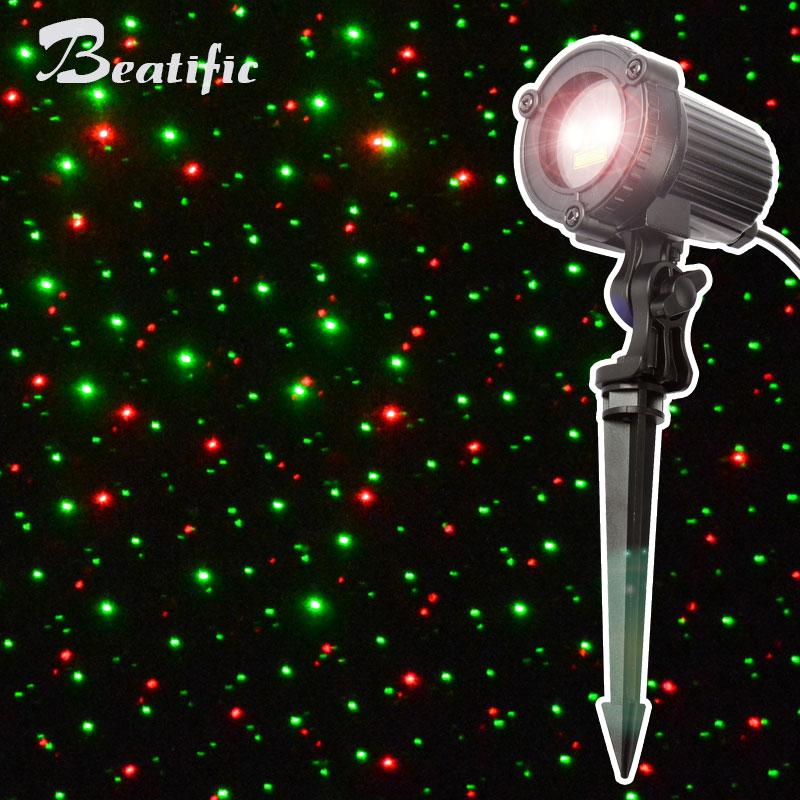 2018 outdoor christmas star lights laser projector showers christmas tree light holiday decorations for home red green mix waterproof from lx_1206