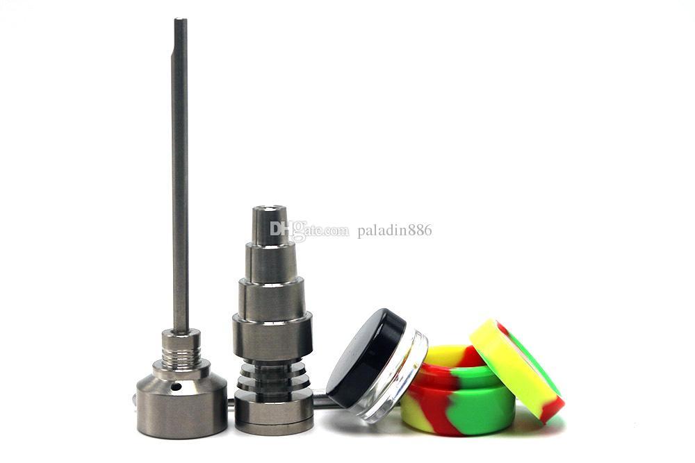 Bong Werkzeug Set 10/14 / 18mm Domeless GR2 Titan Nagel Carb Cap Dabber Slicone Jar Glas Bong Rauchen Wasserleitungen