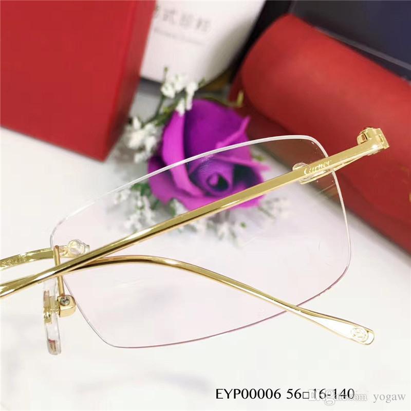 Мужчины пенсне серебряной рамки 56мм мода очки Оптический Frame очки новый с коробкой