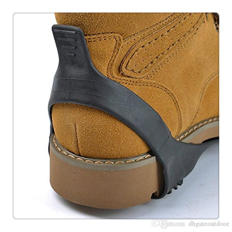 Buz Kar Üzerinde Ayakkabı Boot Boot Çekme Cleat Kelepçe Kauçuk Spike Anti Kayma 10 Damızlık Krampon Kayma Kayak Kar Yürüyüş Tırmanma Streç Ayakkabı