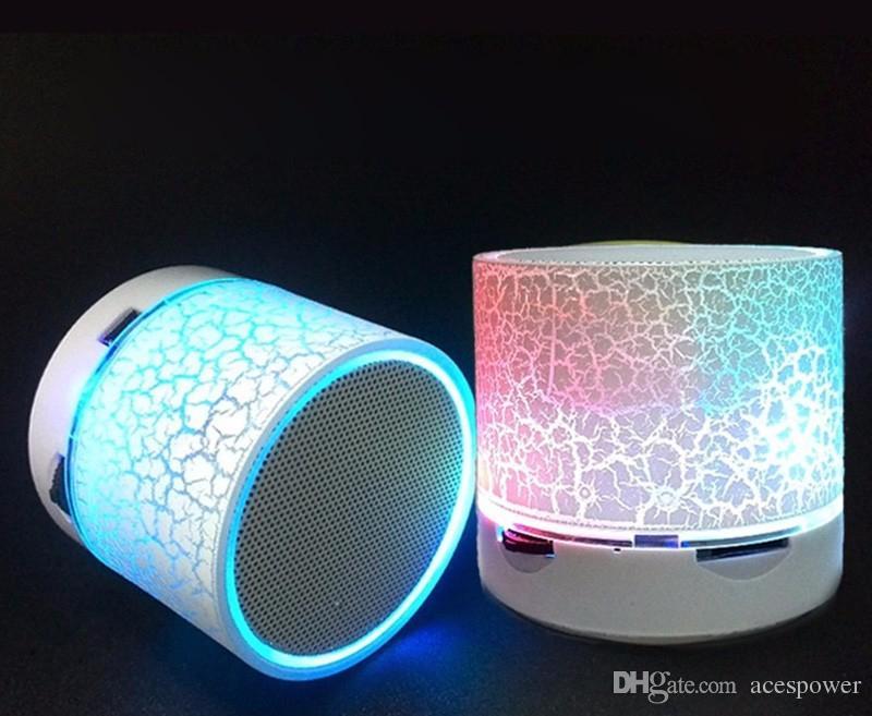 Alto-falantes Bluetooth LED A9 S10 Sem Fio Speaker Mãos Portáteis Mini Loudspeaker Free TF USB FM Support Cartão SD PC com Mic